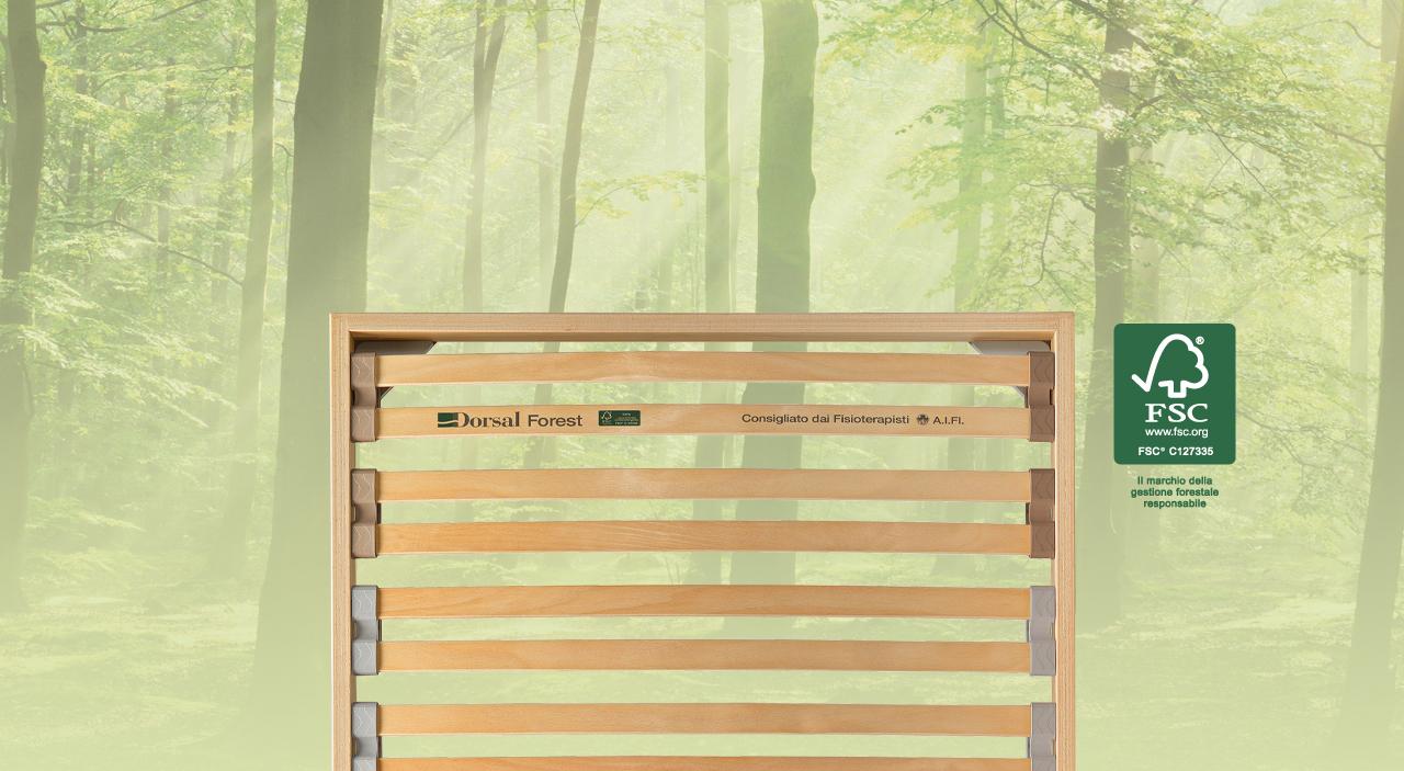 Reti da letto a doghe, reti in legno e acciaio  Dorsal